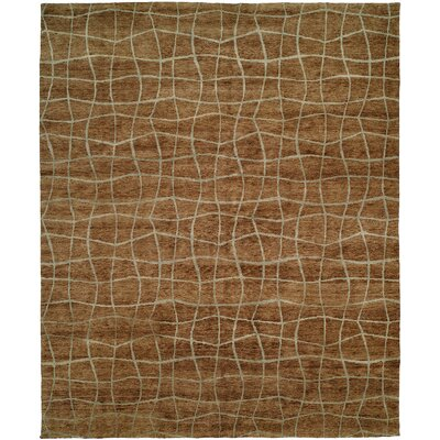 San Antonio Hand-Knotted Brown Area Rug Rug Size: 9 x 12