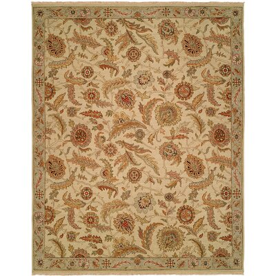 Surigao Hand-Woven Beige Area Rug Rug Size: Rectangle 9 x 12
