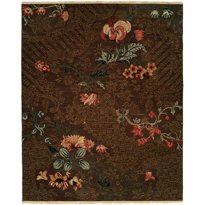 Tabaco Hand-Woven Brown Area Rug Rug Size: Rectangle 6 x 9