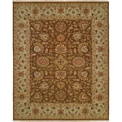Talcahuano Hand-Woven Brown Area Rug Rug Size: Rectangle 8 x 10