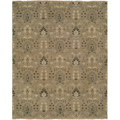 Tauranga Hand-Woven Brown Area Rug Rug Size: Square 10