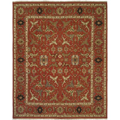 Yokohama Hand-Woven Red/Beige Area Rug Rug Size: Rectangle 4 x 8