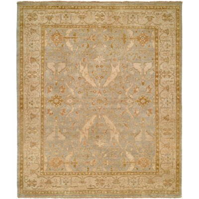Williamshile Hand-Knotted Light Blue/Beige Area Rug Rug Size: 4 x 6