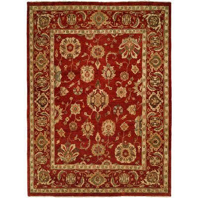 Ushuaia Hand-Knotted Red/Beige Area Rug Rug Size: Rectangle 5 x 7