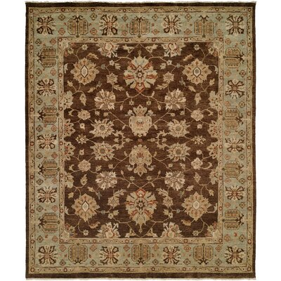 Sacramento Hand-Knotted Brown/Blue Area Rug Rug Size: 5 x 7