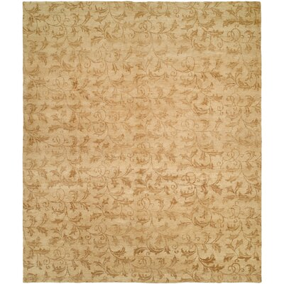 Nome Hand-Knotted Beige Area Rug Rug Size: Square 8