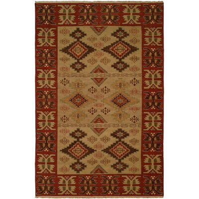 Yingkou Hand-Woven Brown/Red Area Rug Rug Size: Round 6