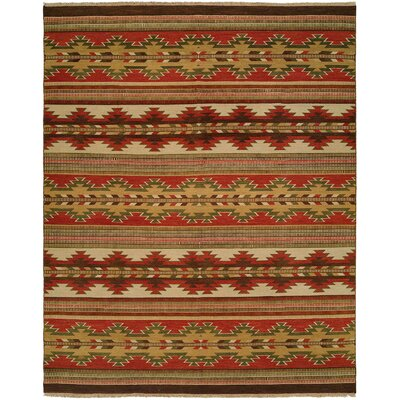 Hangu Red/Beige Area Rug Rug Size: Rectangle 4 x 6