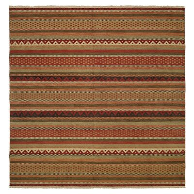 Queensland Brown/Red Area Rug Rug Size: Square 10