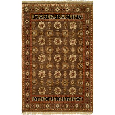 Brisbane Hand-Knotted Brown Area Rug Rug Size: 4 x 6