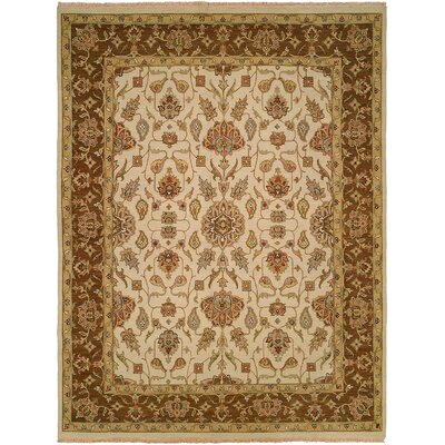 Townsville Hand-Woven Ivory/Brown Area Rug Rug Size: Rectangle 4 x 6