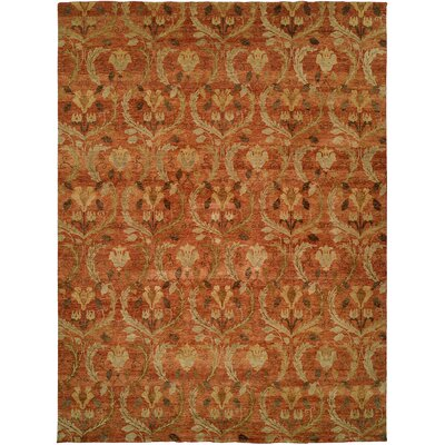 Keelung Hand-Knotted Rust Area Rug Rug Size: Rectangle 10 x 14