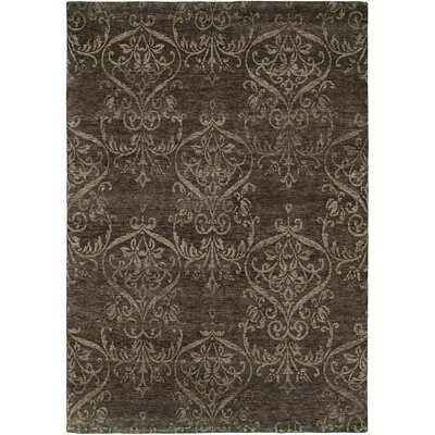 Bangkok Hand-Knotted Gray Area Rug Rug Size: Rectangle 6 x 9