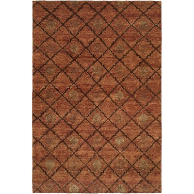 Chabang Hand-Knotted Rust Area Rug Rug Size: Rectangle 6 x 9