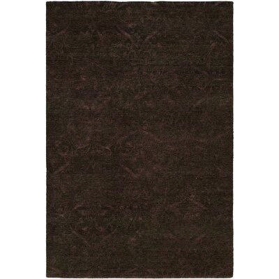 Sihanoukville Hand-Knotted Dark Gray/Purple Area Rug Rug Size: 6 x 9