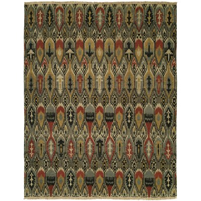 Dalian Hand-Woven Gold/Gray Area Rug Rug Size: Rectangle 3 x 5