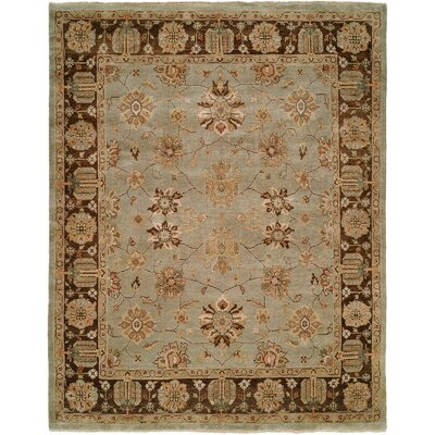 Chongqing Hand-Knotted Light Blue/Brown Area Rug Rug Size: Square 6