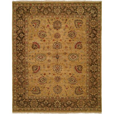 La Paz Hand-Knotted Brown Area Rug Rug Size: Rectangle 4 x 6