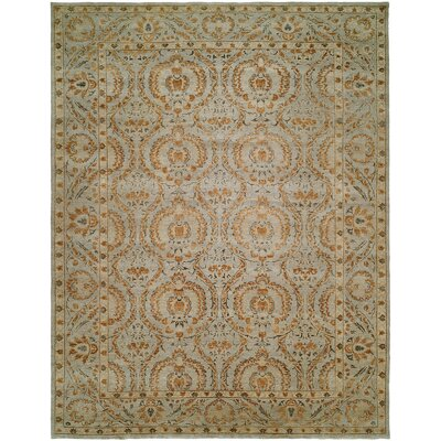 Hungnam Hand-Knotted Blue/Brown Area Rug Rug Size: 2 x 3