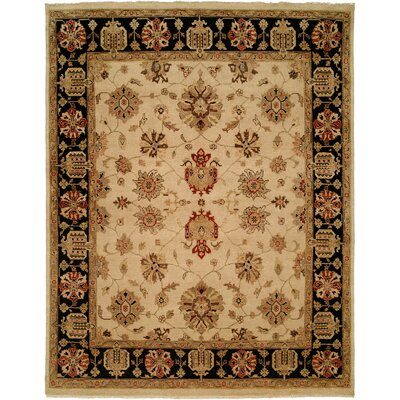 Vladivostok Hand-Knotted Ivory/Brown Area Rug Rug Size: 2 x 3