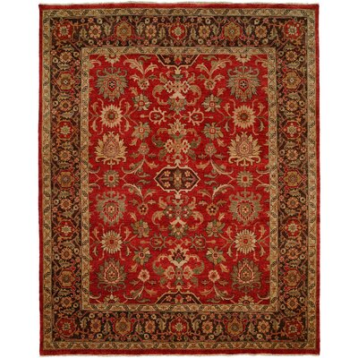 Vostochny Hand-Knotted Red/Brown Area Rug Rug Size: 12 x 18