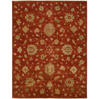 Bellingham Hand-Knotted Rust/Yellow Area Rug Rug Size: 9 x 12
