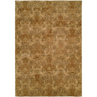 Seattle Hand-Knotted Beige Area Rug Rug Size: Square 6