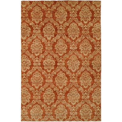 Surrey Hand-Knotted Beige/Red Area Rug Rug Size: Rectangle 4 x 6
