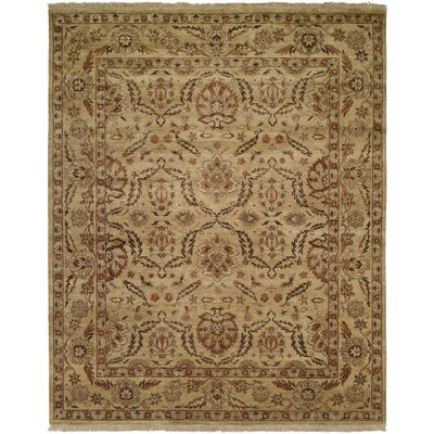 Vallejo Hand-Knotted Beige Area Rug Rug Size: Rectangle 3 x 5