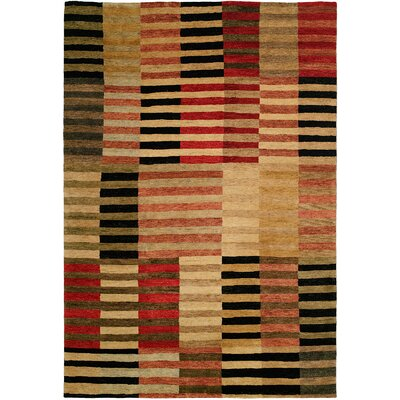 Stockton Hand-Knotted Beige Area Rug Rug Size: 9 x 12