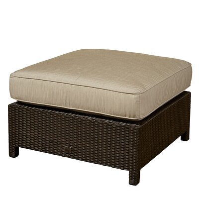 Bumper Ottoman with Cushion Fabric: Canvas Air Blue