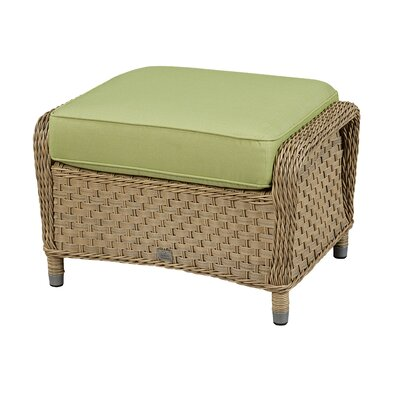 Ottoman with Cushion Fabric: Canvas Granite