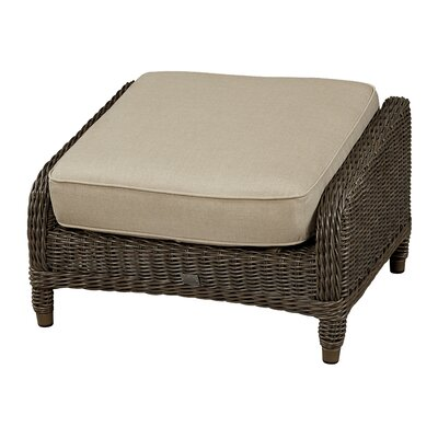 Ottoman with Cushion Fabric: Flagship Papyrus