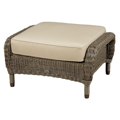 Ottoman with Cushion Fabric: Canvas Navy