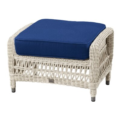 Ottoman with Cushion Fabric: Flagship Salt