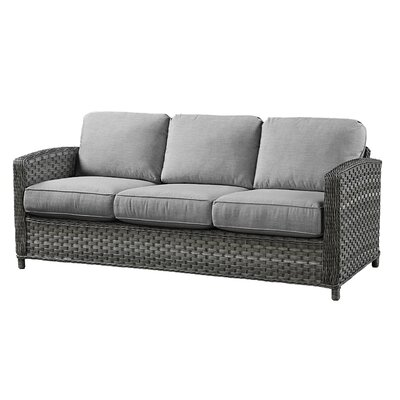 Sofa with Cushions Fabric: Meridian Coco