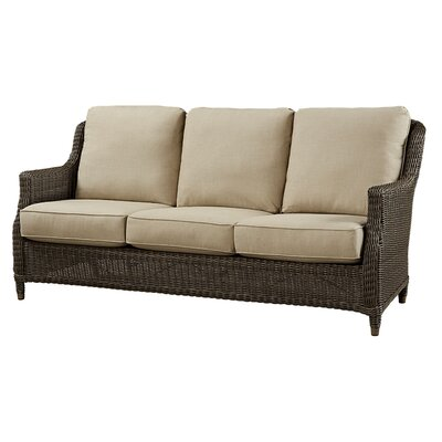 Sofa with Cushion Fabric: Flagship Papyrus
