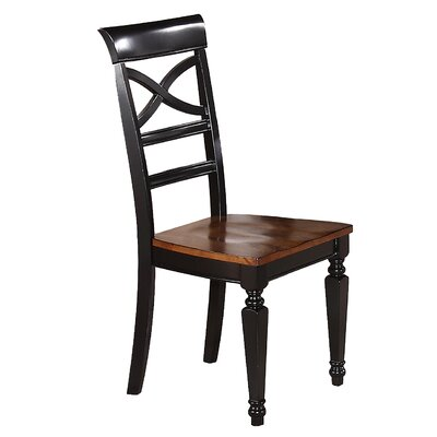 Side Chair (Set of 2) Side Chair Finish: Black