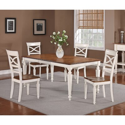 Extendable Dining Table Table Finish: White