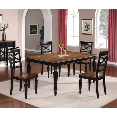 Extendable Dining Table Table Finish: Black