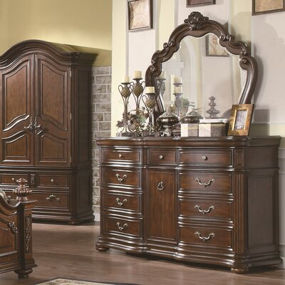 Griton 9 Drawer Dresser with Mirror