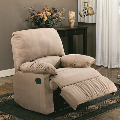 Manual Rocker Recliner Upholstery: Tan