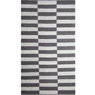 Broken Stripe Dove Gray/Natural White Area Rug