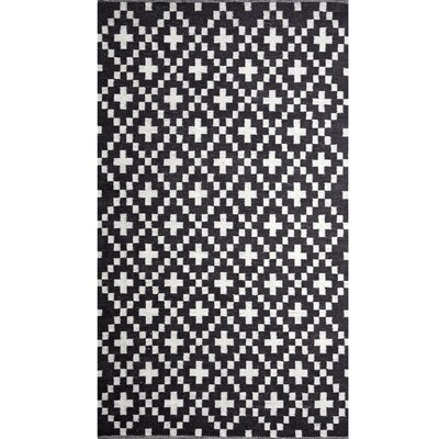 Cross Charcoal/Natural White Area Rug