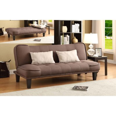 Kilk Klak Convertible Sofa Upholstery: Dark Brown / Beige