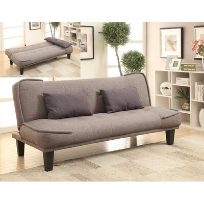 Kilk Klak Convertible Sofa Upholstery: Grey / Brown