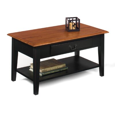 Willow Creek Coffee Table Color: Brown Cherry / Black