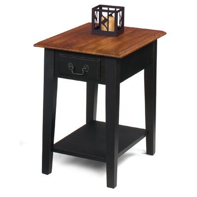End Table Finish: Brown Cherry / Black