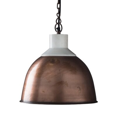 Blaine 1-Light Pendant Light Shade Color: Copper