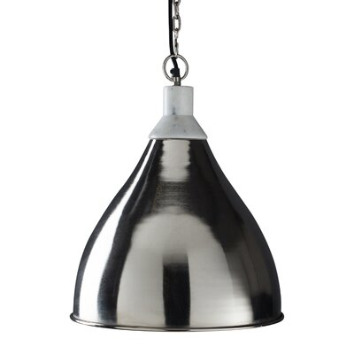 Benton 1-Light Pendant Light Shade Color: Nickel